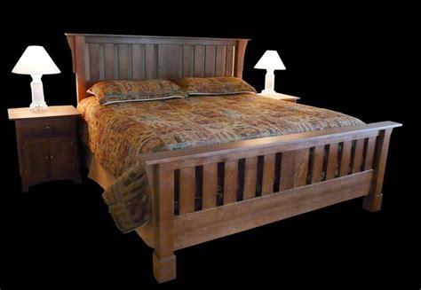 handmade craftsman style bed  misty mountain furniture custommadecom