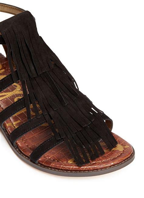 sam edelman fringe sandals sam edelman estelle fringe caged suede sandals in black