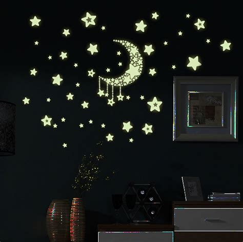 Glow In The Home Decor by 1 Sheet Glow In The Wall Stickers Home Bedroom Decor