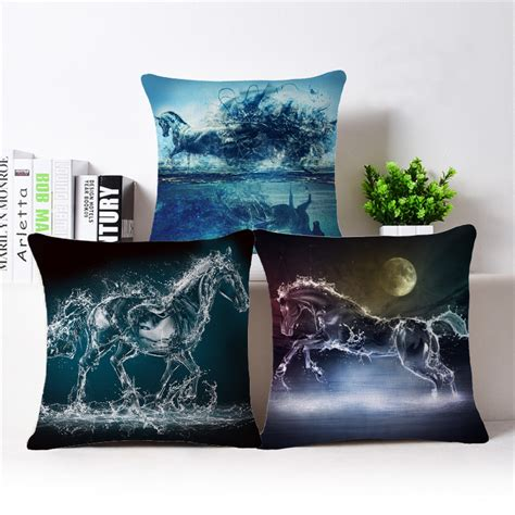 ikea throw pillows 3d horse print cushion covers decorative throw pillow