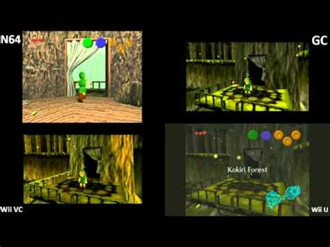 wii vs n64 graphics system ocarina of time load times difference n64 gc