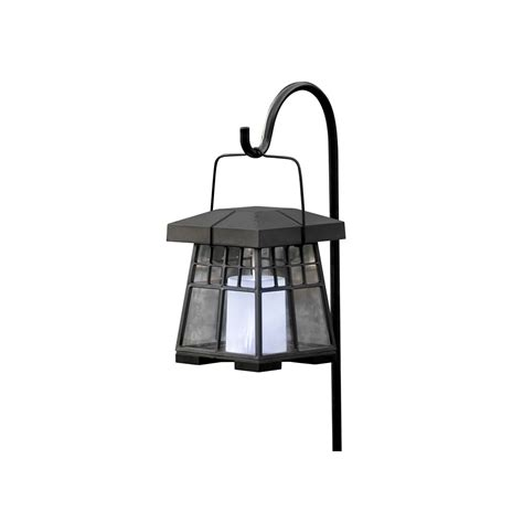 Solar Outdoor Hanging Lights Shop Sunforce 5 31 In Black Outdoor Solar Hanging Lights