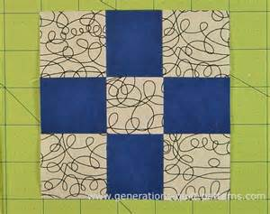 you can a single nine patch quilt block