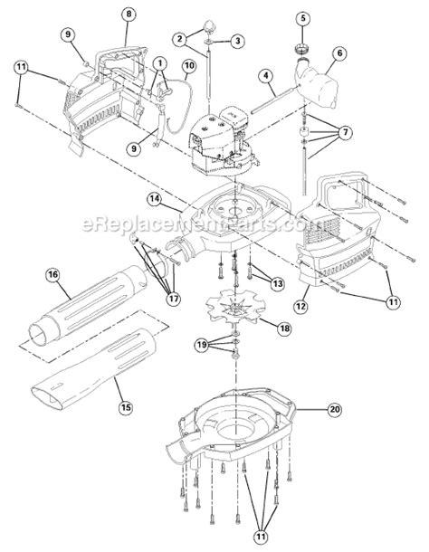 ryobi blower parts diagram ryobi 280r parts list and diagram 41dr280g034