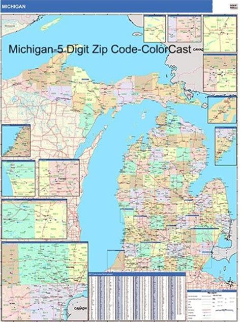 michigan area code map michigan zip code map from onlyglobes