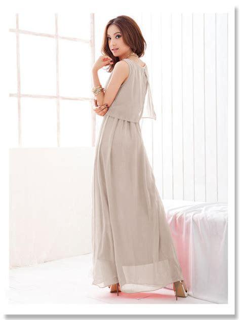 363f070 sleeveless chiffon dresssize s m l ad