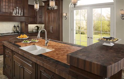 walnut kitchen island walnut butcher block countertops by grothouse made in usa