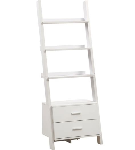 ladder bookcase with storage drawers in bookcases