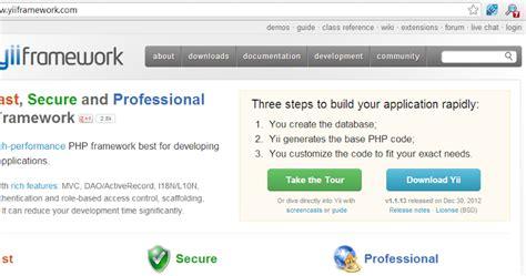 online tutorial for yii framework php tutorial belajar yii framework untuk pemula