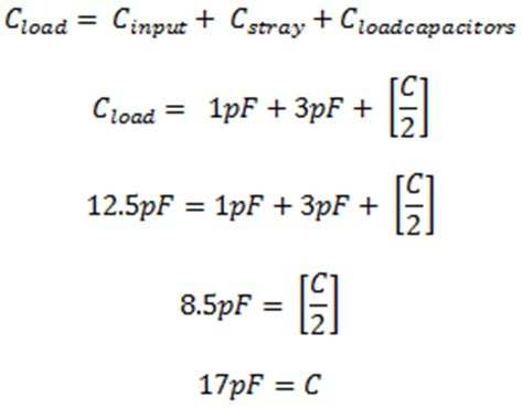 capacitor energy calculator selecting load capacitors