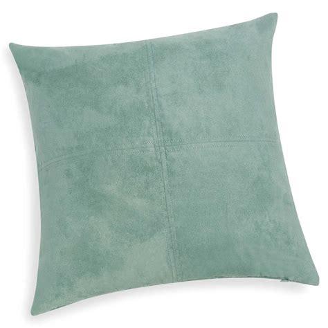 coussin bleu vert coussin en tissu bleu vert 40x40 swedine maisons du monde