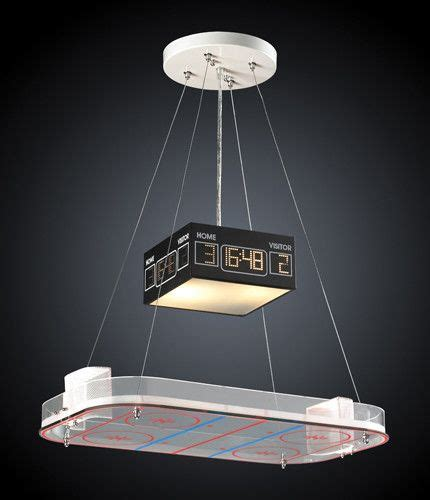 hockey themenzimmer elk lighting 5138 2 two light pendant in a hockey motif