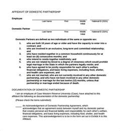 Partnership Agreement Template California sample domestic partnership agreement 11 free documents