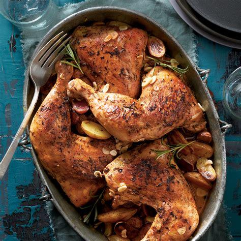 rosemary garlic chicken quarters recipe myrecipes