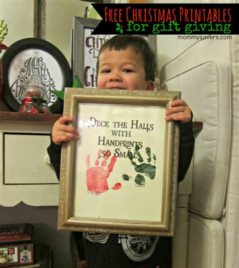 handprint picture homemade christmas gifts the happy