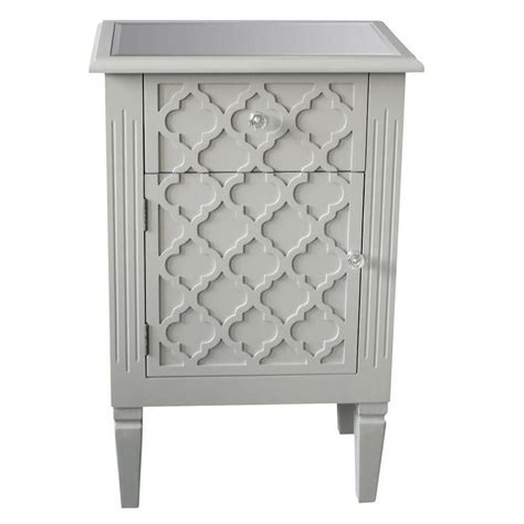 grey accent table sophia grey accent table with pattern front