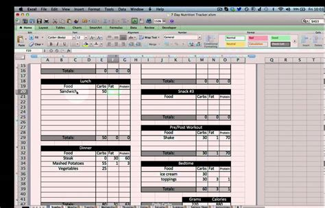 nutrition spreadsheet template calories tracker spreadsheet free greenpointer