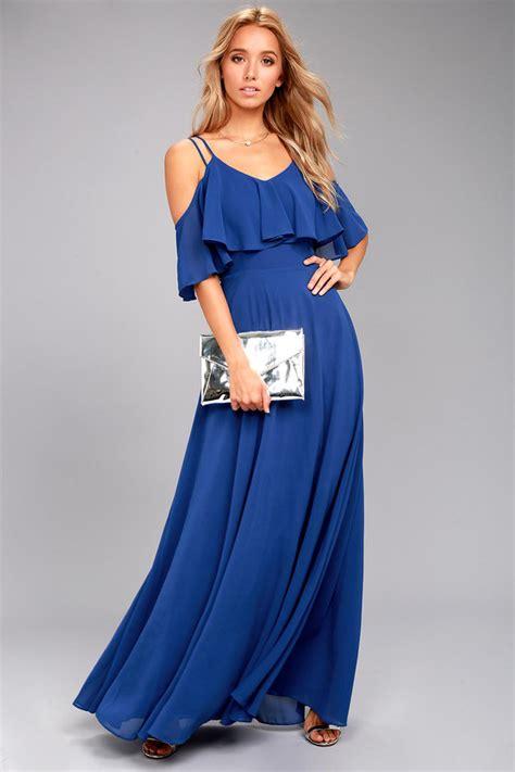 Dress Wanita Maxi Royal Balotelly lovely royal blue maxi dress ots maxi dress strappy maxi