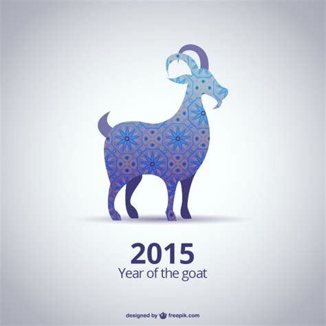 new year 2015 is it goat or sheep 2015 year of the goat vector free