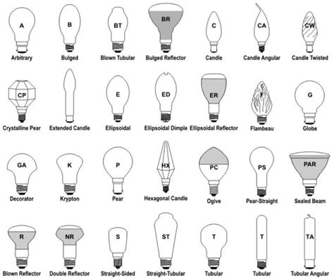 light bulbs size guide