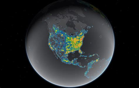 light pollution map earth map reveals light pollution around the globe