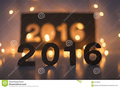 new year light up 2016 new year 2016 lights figures made of cardboard stock