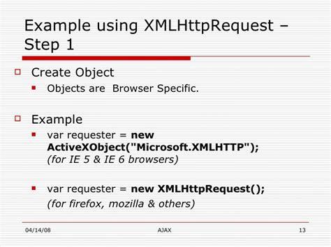 tutorial xmlhttprequest ajax