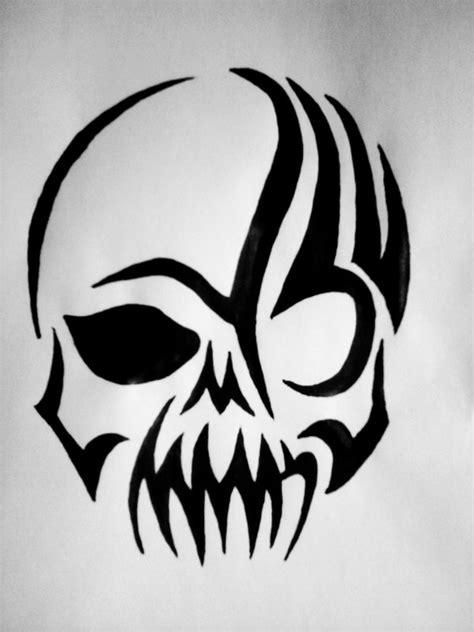 g tribal tribal skull by g fication on deviantart