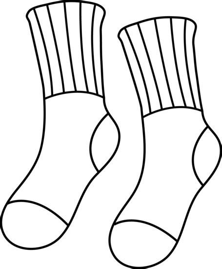 sock colouring pair of socks line free clip