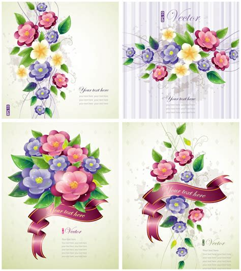Flowers With Gift Card - spring vector graphics blog page 3