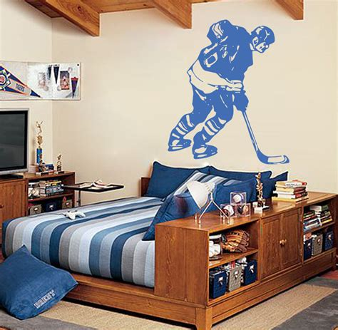 rooms to go free shipping s011 hockey stick puck rink sport team wall decal sticker for room free shipping in