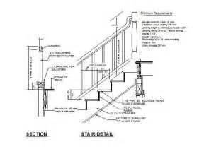 Stairs Details Dwg by Stair And Handrail Cad Detail Cadblocksfree Cad Blocks Free