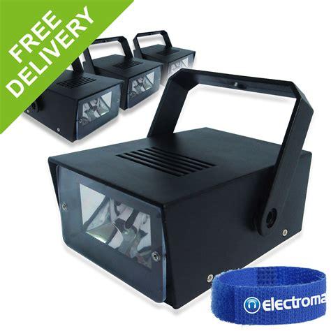 4x Soundlab Battery Operated Mini Led Strobe Party Lights Mini Lights Battery Operated
