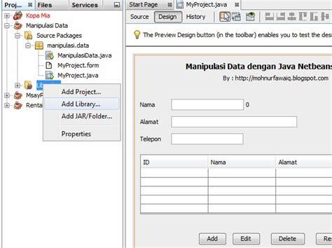 1 syntax syntax dibawah ini adalahuntuk membuat database membuat aplikasi manipulasi data dengan java netbeans dan