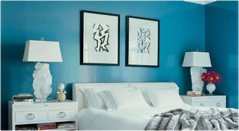 turquoise walls in bedroom bring turquoise color to home decoration