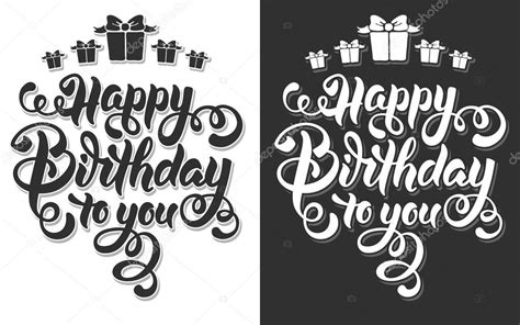 happy birthday to you design feliz cumplea 241 os letras vector de stock 169 pazhyna 99203378