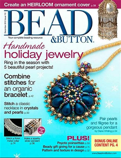 button magazine bead button 112 december 2012 187 pdf magazines archive