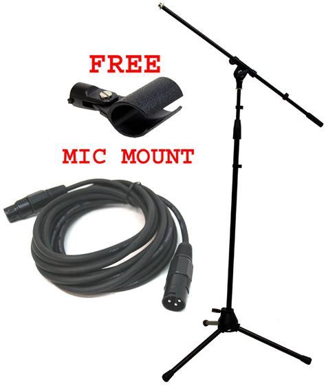 Tripod Xlr pro audio dj tripod adjustable height boom mic microphone