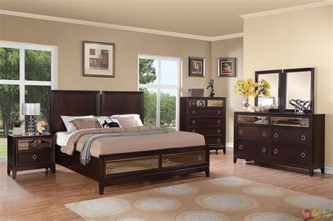 cherry finish bedroom furniture williams contemporary cherry finish storage bedroom set