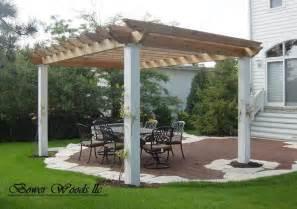 Concrete Pergola Designs by Free Standing Pergola On Concrete Pad Pergola