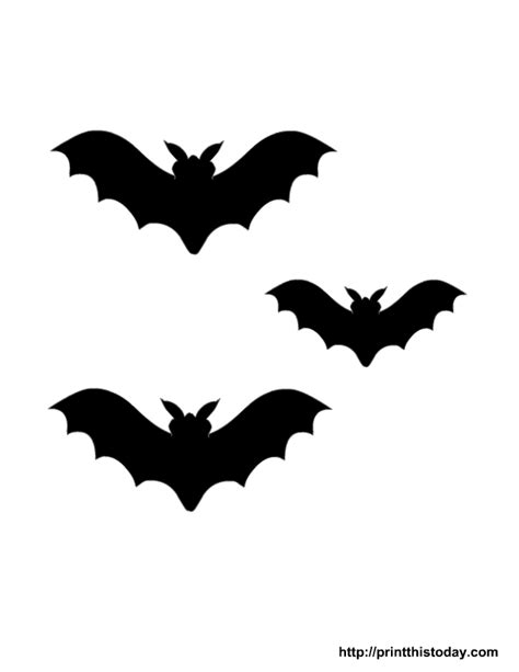 printable halloween decorations scary 7 best images of halloween bat stencils printable