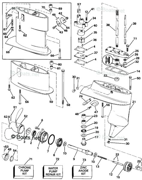 boats net evinrude parts evinrude outboard parts by year 1993 oem parts diagram for