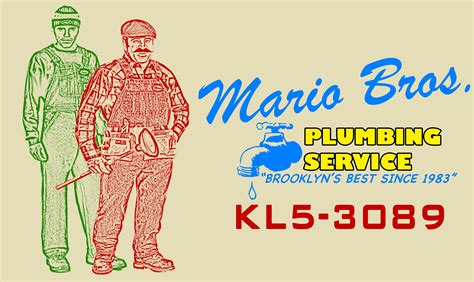 Mario Brothers Plumbing by Mario Bros Business Card By Happyrussia On Deviantart