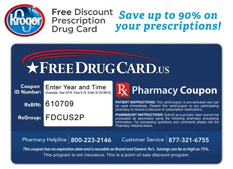 Kroger Gift Card Discount - kroger pharmacy discount prescription card savings on rx drugs