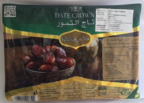 Kurma Date Crown Khalas 250gr Berkhasiat date crown premium emirates khalas dates kurma 1 kg jual makanan diet sehat alami harga