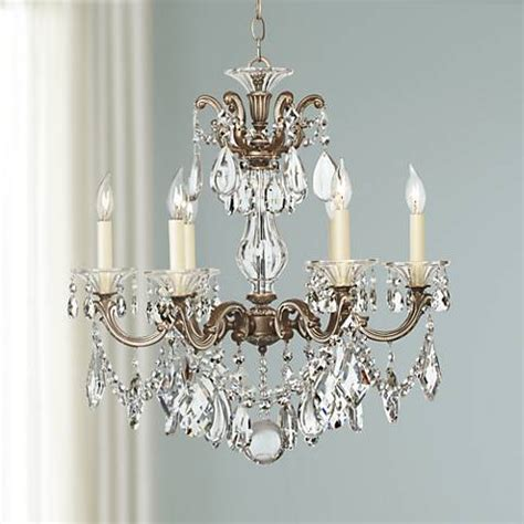 ls plus crystal chandeliers schonbek la scala six light crystal chandelier 07569