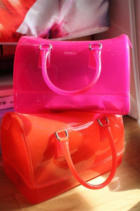 Furla Jelly Alma Merah Dan Pink i want style