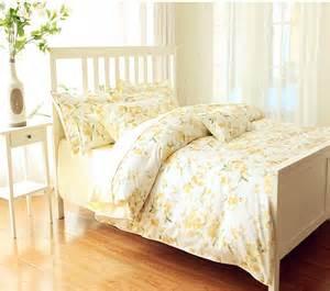 Cheap Quality Bed Linen - lemon color yellow high quality egypt cotton flroal duvet cover egypt cotton bedding luxury