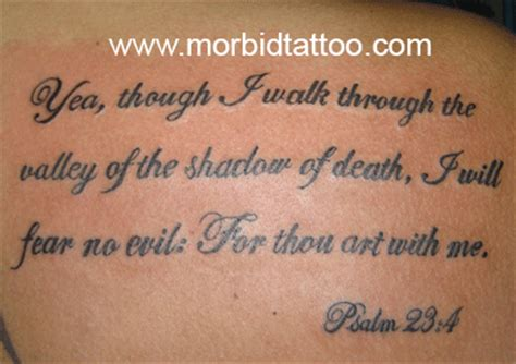 psalms 23 4 tattoo psalm 23 4 morbidtattoo