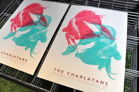 Topi Custom Colours Printing 1 quot the charlatans quot screen print by davidson prints of thieves